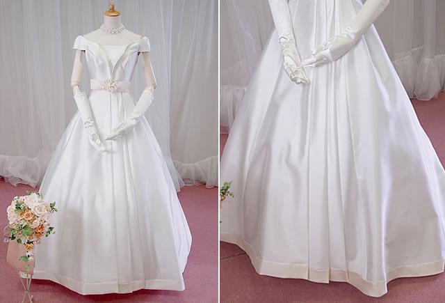 ミカドサテンのスタイリッシュドレス