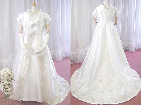 ミカドサテンのコートドレス